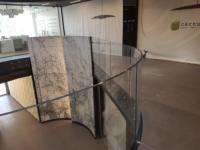 balustrada sticla curba securizata si laminata 8.2.8