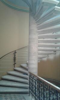 balustrada sticla curba
