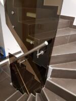 balustrada sticla securizata si laminata 8.4.8 bronz